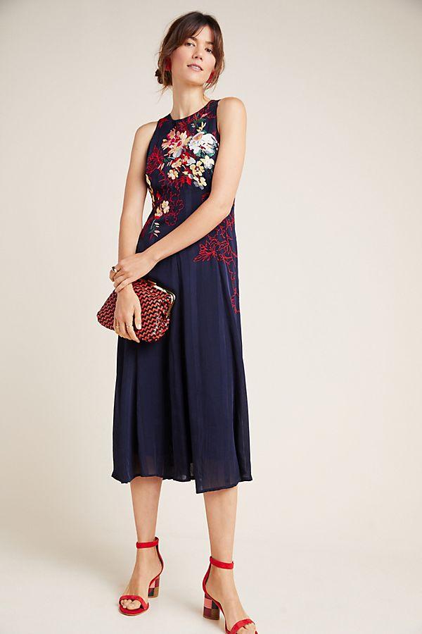 Slide View: 1: Tanzine Embroidered Midi Dress