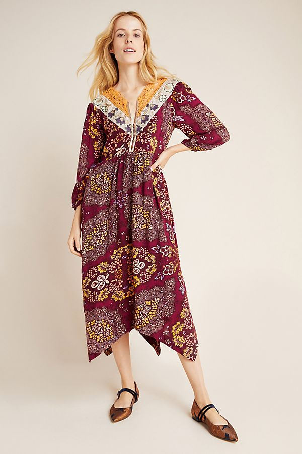 Slide View: 1: Meredith Embroidered Maxi Dress