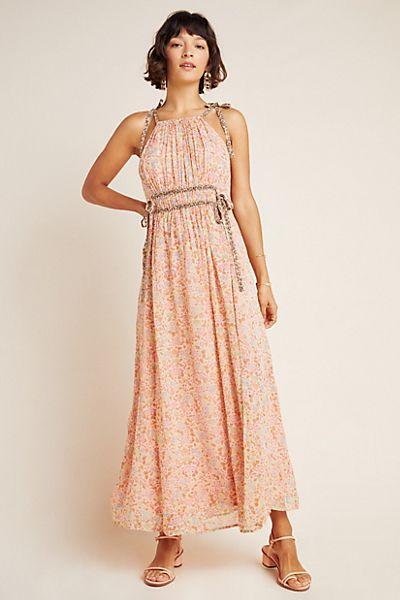 Clementina Halter Maxi Dress