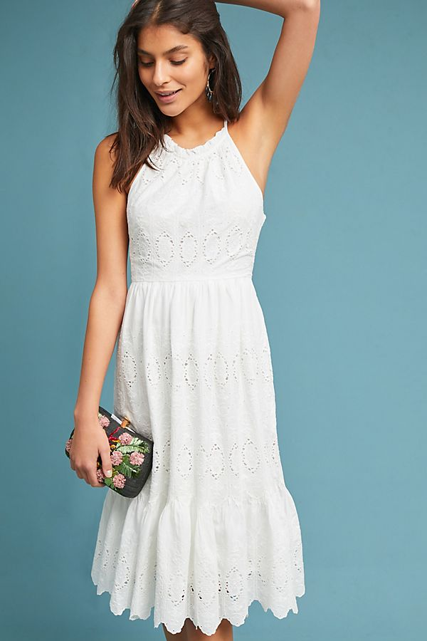 8eff5a474 Tiered Eyelet Midi Dress | Anthropologie