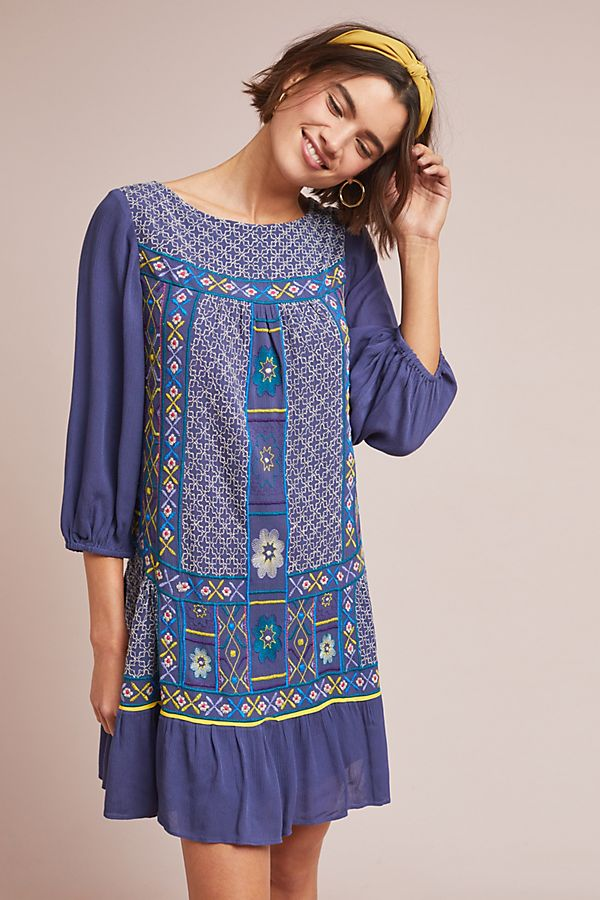 5c4601d7c6 Slide View  1  Patna Embroidered Tunic Dress