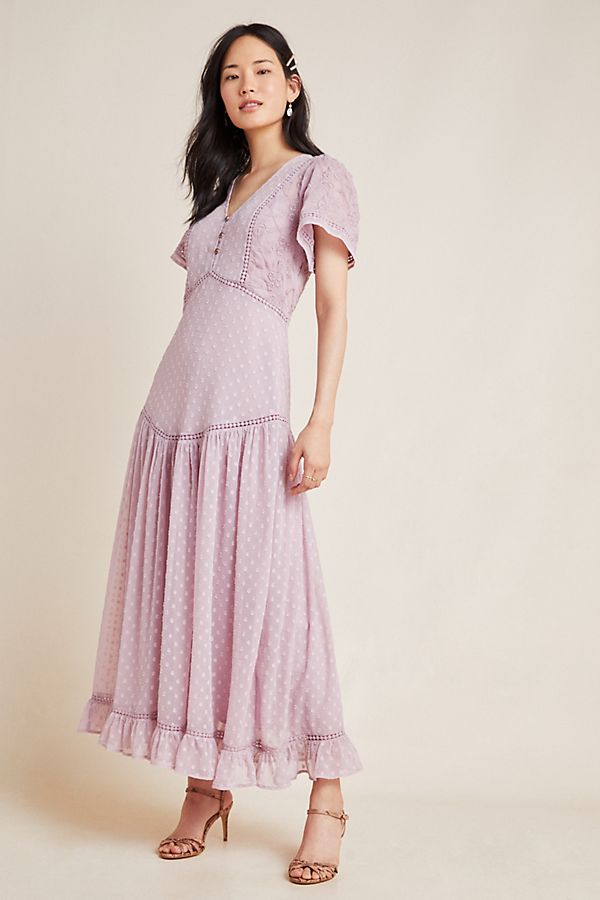 Slide View: 1: Knightley Embroidered Maxi Dress