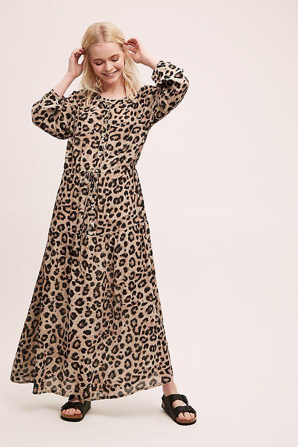 Robe Longue A Imprime Leopard Siza Anthropologie Fr