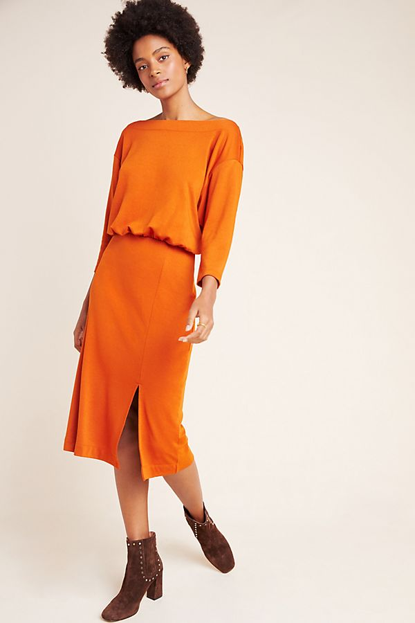 Slide View: 1: Knit Column Dress