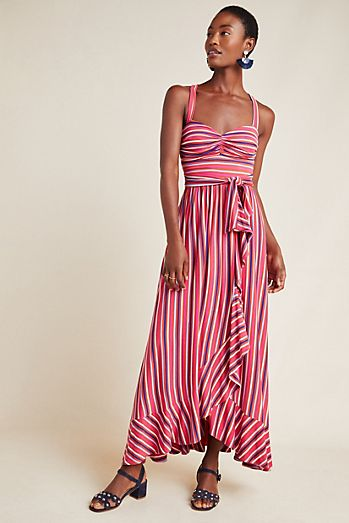 e1d4aa294ee Gabriela Ruffled Maxi Dress