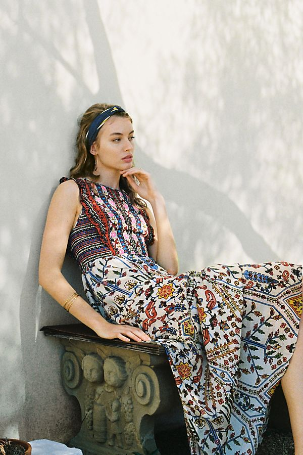 Slide View: 1: Valerie Embroidered Maxi Dress