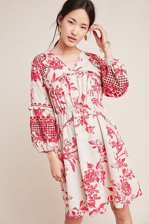 Slide View: 1: Thomasine Embroidered Floral Tunic