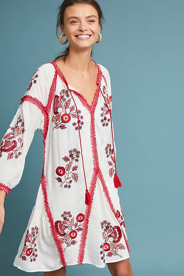 5d5ca04afe95 Hadley Embroidered Tunic Dress | Anthropologie UK