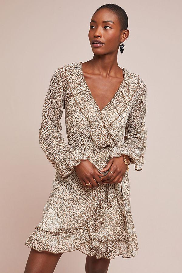 c5d7760eb9 Ruffled Leopard Dress
