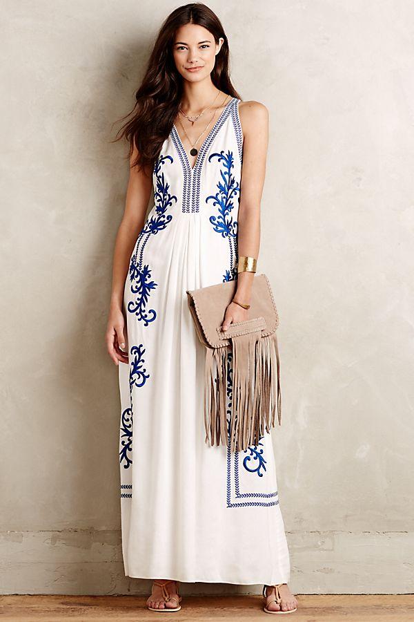 a2d0d9c3ed9 Aska Embroidered Maxi Dress