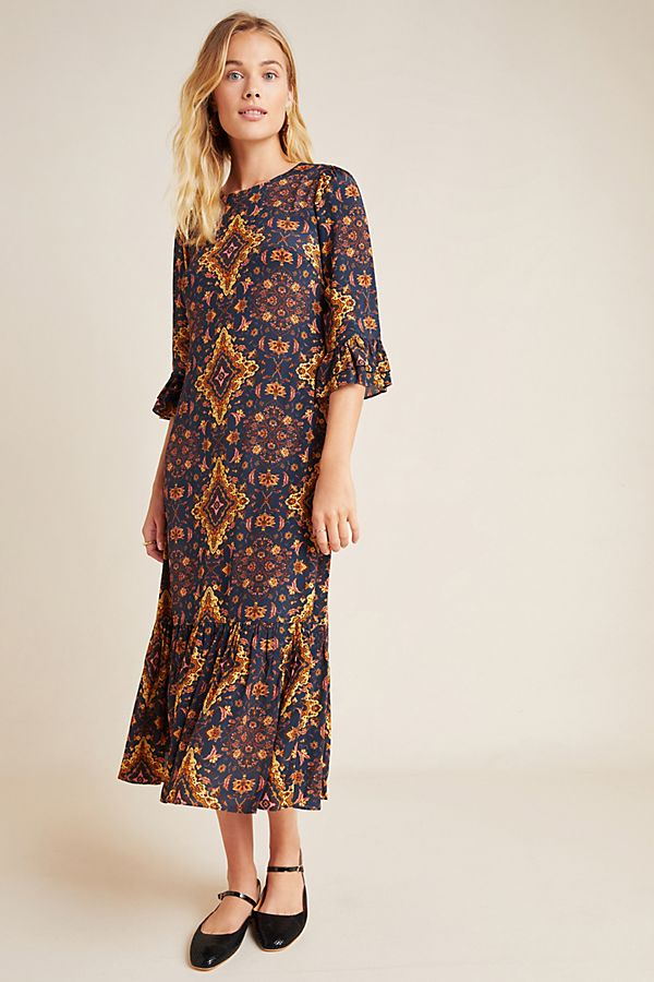 Slide View: 1: Tiburon Ruffled Maxi Dress