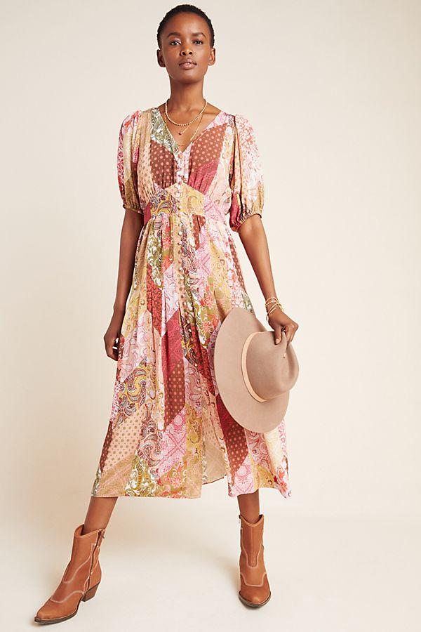 Slide View: 1: Celestina Silk Maxi Dress
