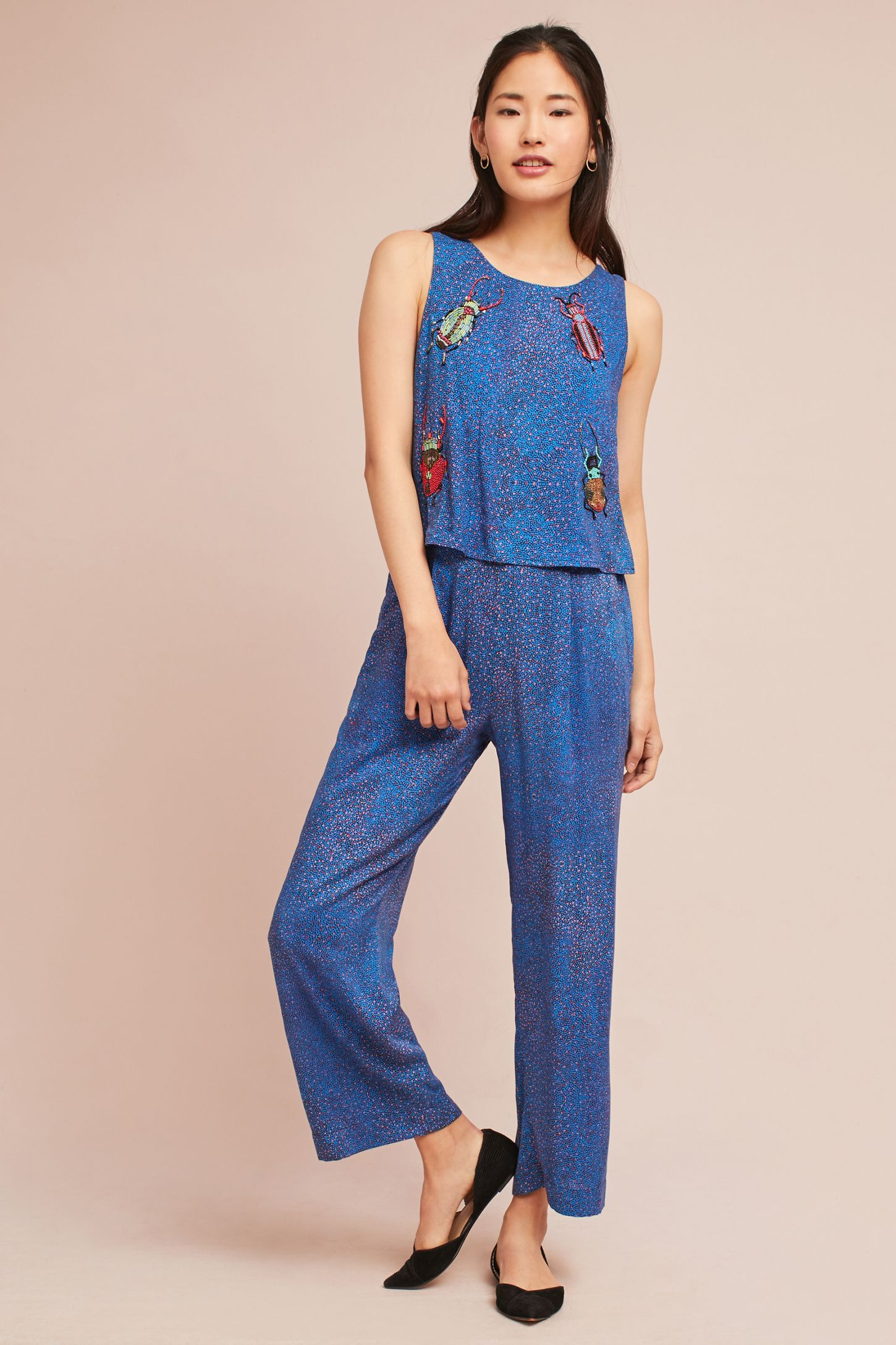 a8caa49fa8d9 Critter Embroidered Jumpsuit