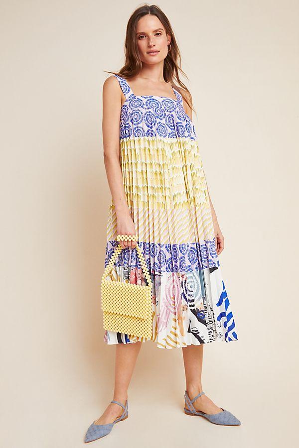Slide View: 1: Charleston Pleated Midi Dress