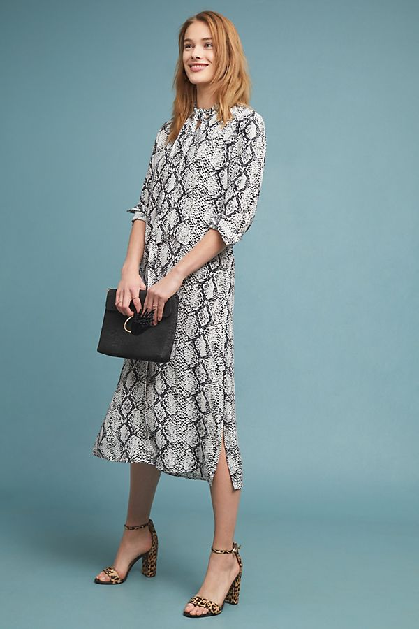 06e65e2380f75a Imanio Snake-Printed Shirtdress | Anthropologie UK