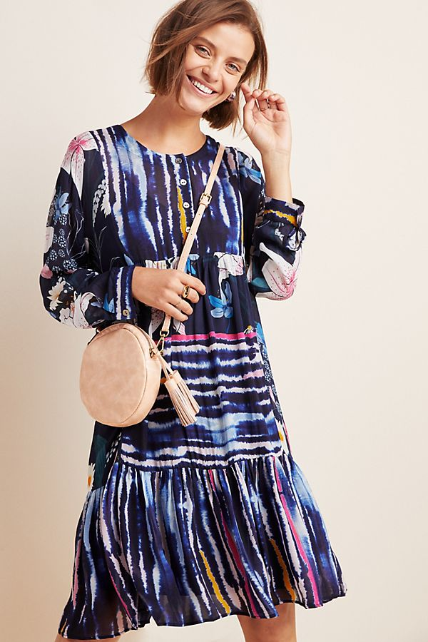 Slide View: 1: Meridian Striped Tunic