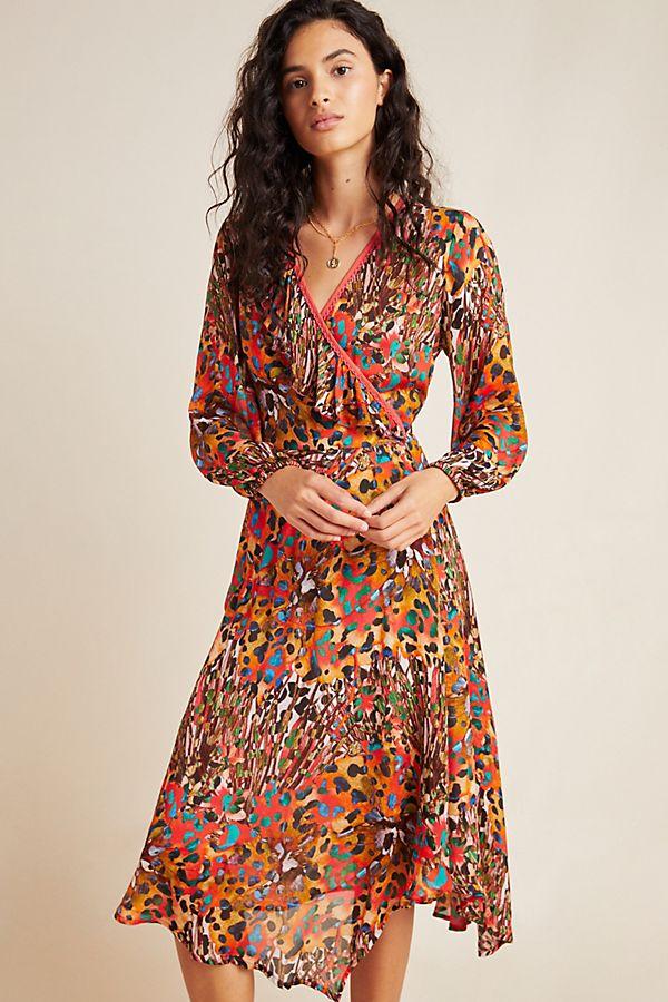 Slide View: 1: Jenny Maxi Wrap Dress