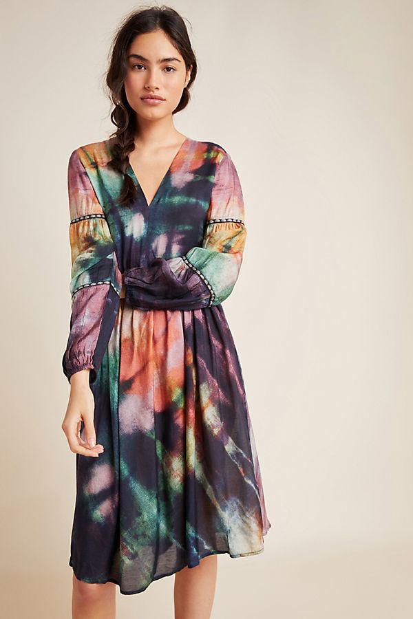 Slide View: 1: Orina Tie-Dyed Mini Dress