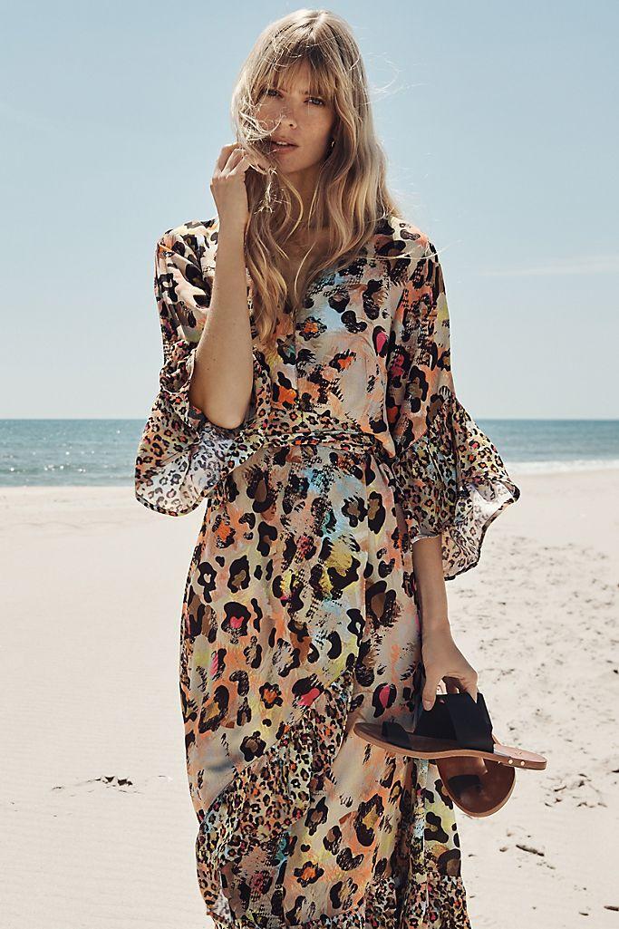 Zadie Leopard Wrap Maxi Dress -