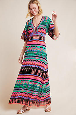 Slide View: 1: Contrera Knit Maxi Dress