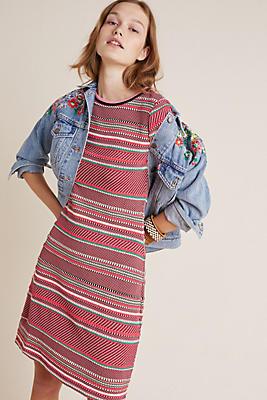 Slide View: 1: Alice Striped Knit Dress