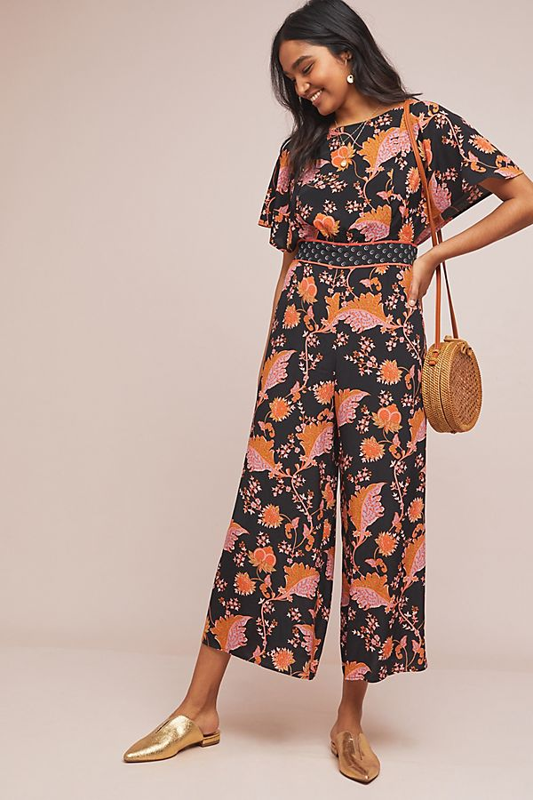 673fb9c17da6 Belted Botanical Jumpsuit | Anthropologie