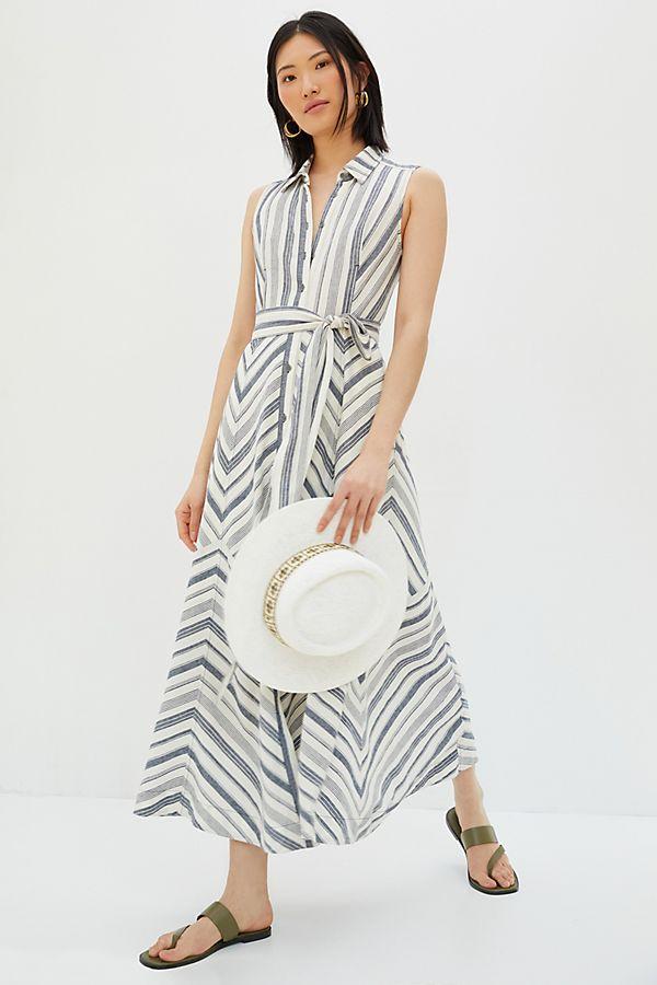 Becca Striped Maxi Shirt Dress