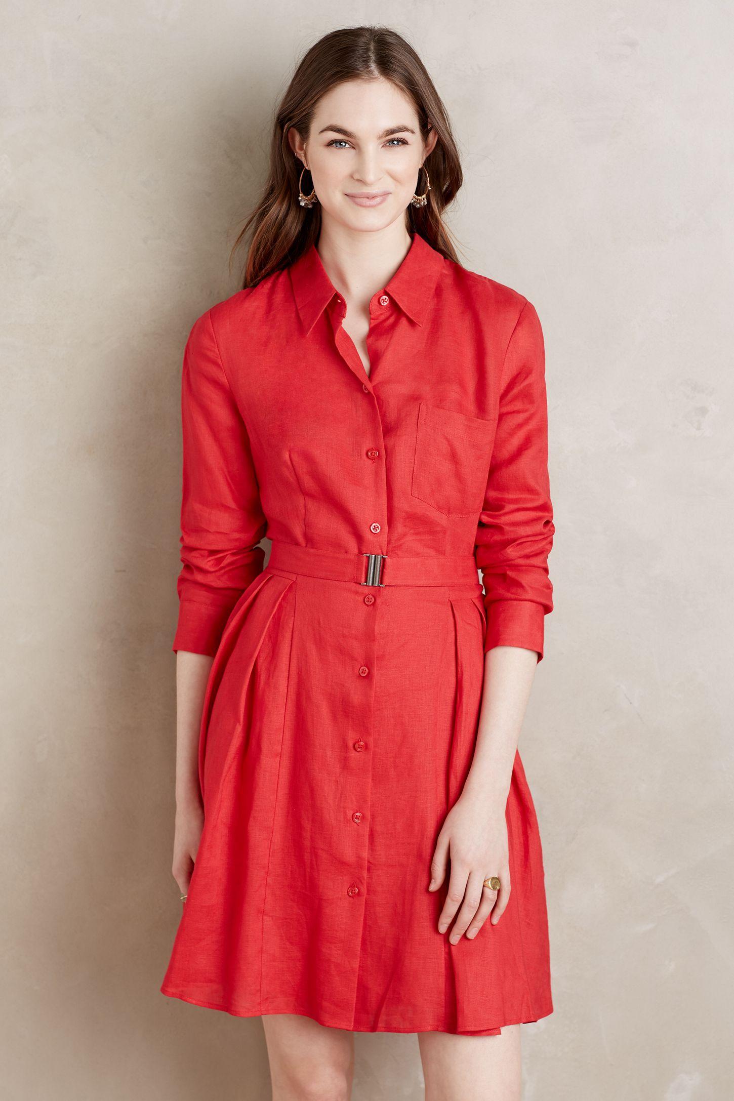 a0a99d4846 Laila Linen Shirtdress