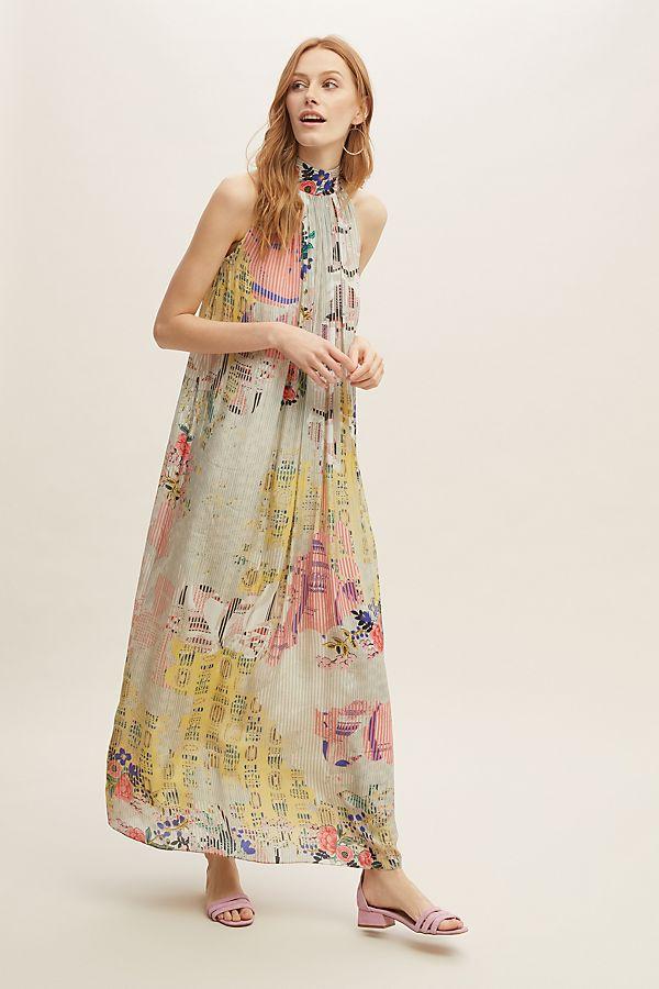 grande vente 63ab5 4afe0 Robe longue dos nu à fleurs