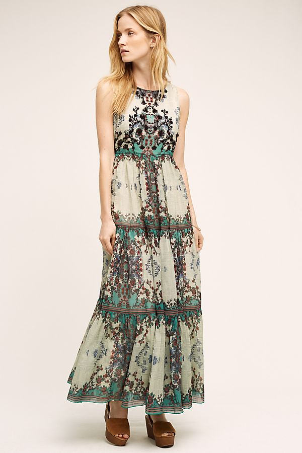 4b2e745700da Madera Maxi Dress, Turquoise | Anthropologie UK