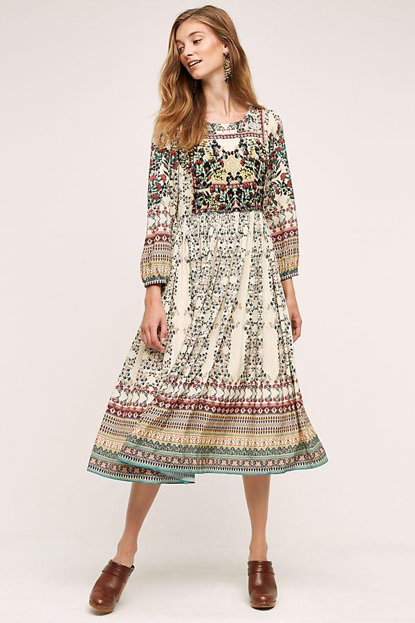 52642f2d7dfdf Far Fields Maxi Dress, Purple | Anthropologie UK
