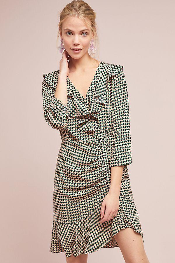 a5e926afd2817 Ruffled Geometric Dress | Anthropologie