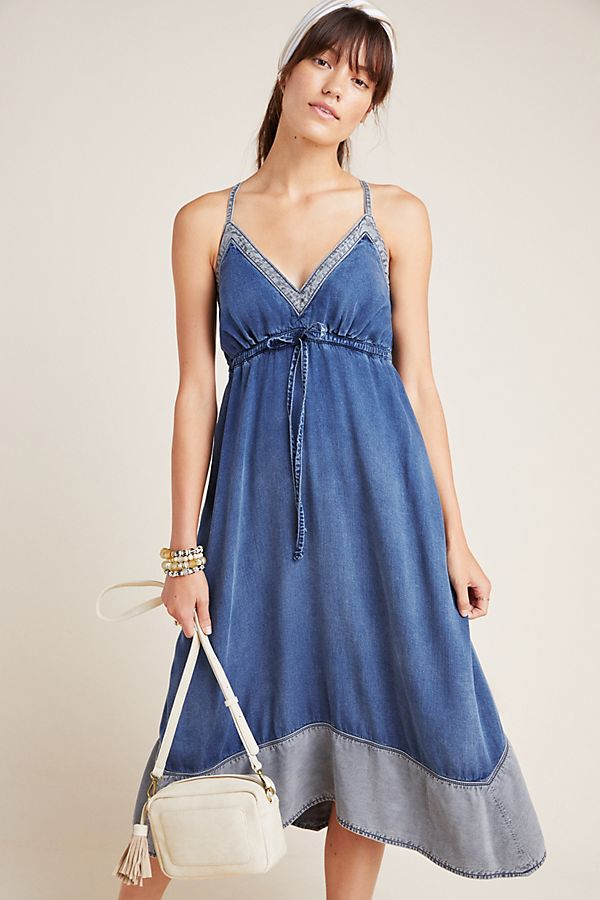 Slide View: 1: Pilcro Chambray Halter Dress