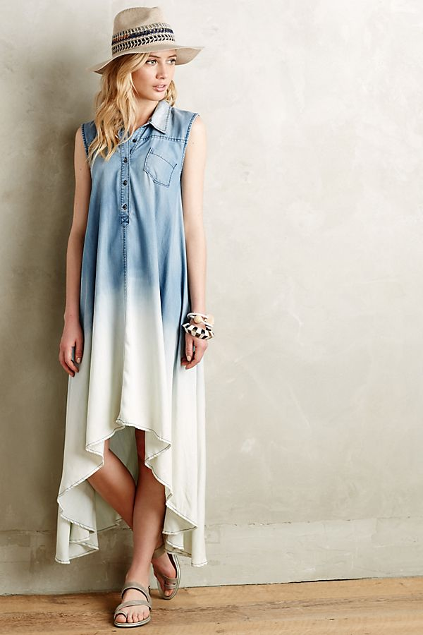 12c5746ce0dc Dipped Chambray Shirtdress | Anthropologie