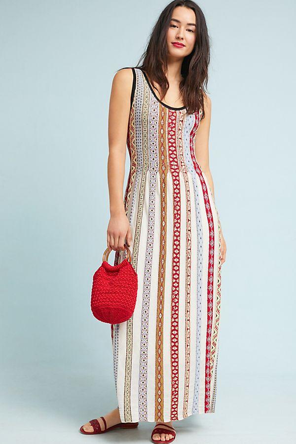 4fe34c83b Bungalow Striped Knit Maxi Dress | Anthropologie UK