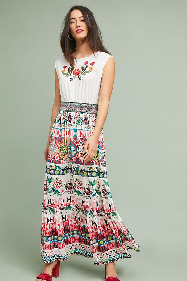 ee455a5b5710 Elma Embroidered Maxi Dress