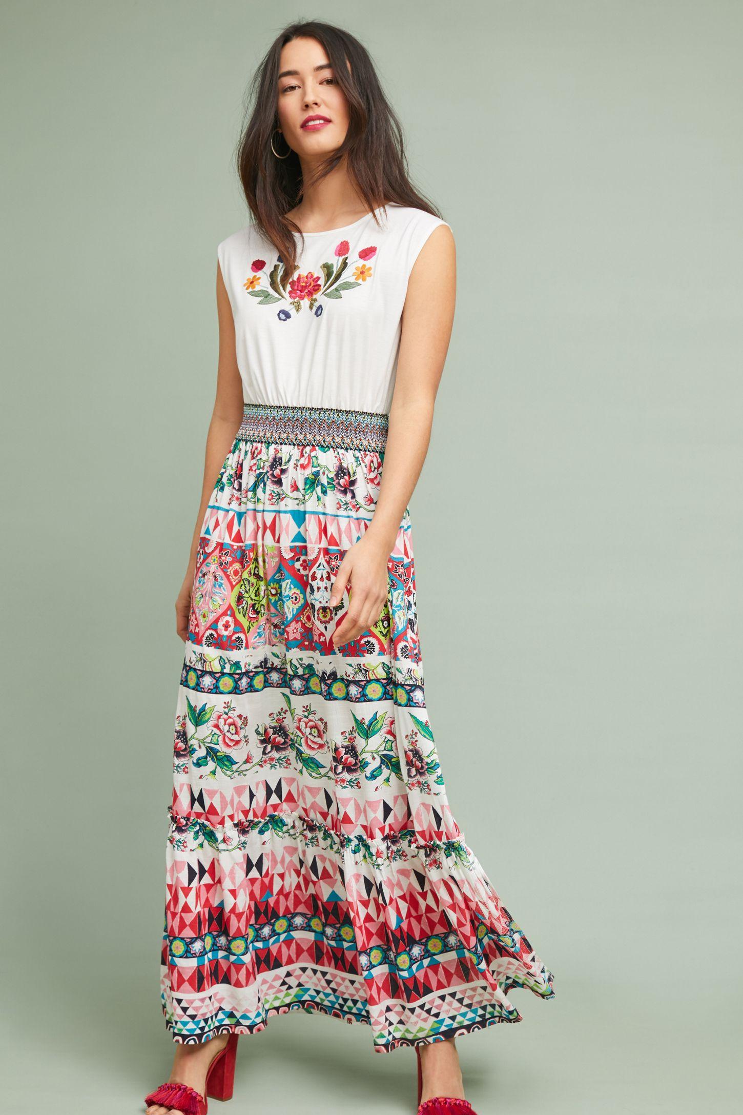 eed9fb621a Elma Embroidered Maxi Dress