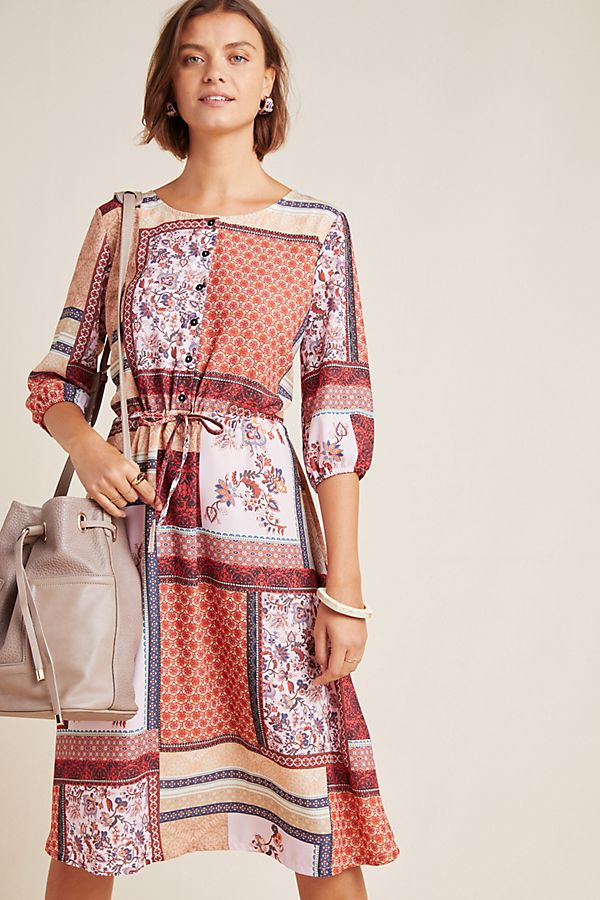 Slide View: 1: Serenity Patchwork Shirtdress