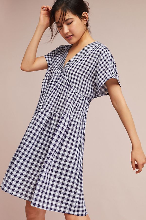 307cde5ab41f Gingham V-Neck Swing Dress | Anthropologie