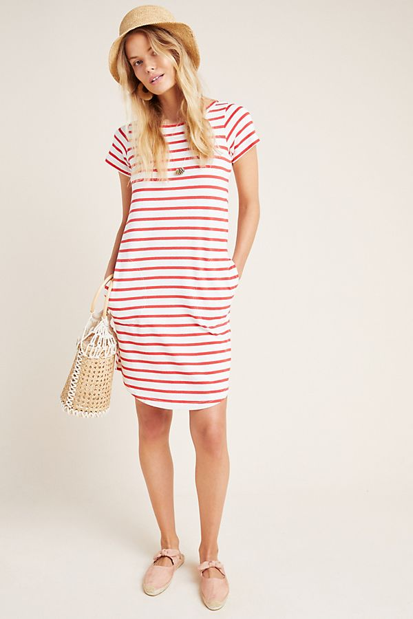 Slide View: 1: Rochelle Striped T-Shirt Dress
