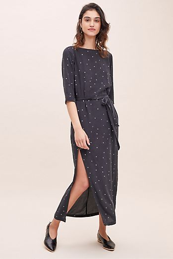 e0f5e2f204b8b Selected Femme Polka-Dot Silk Dress