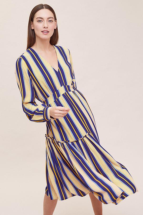9354cf09117 Selected Femme Serena Striped Midi Dress   Anthropologie UK