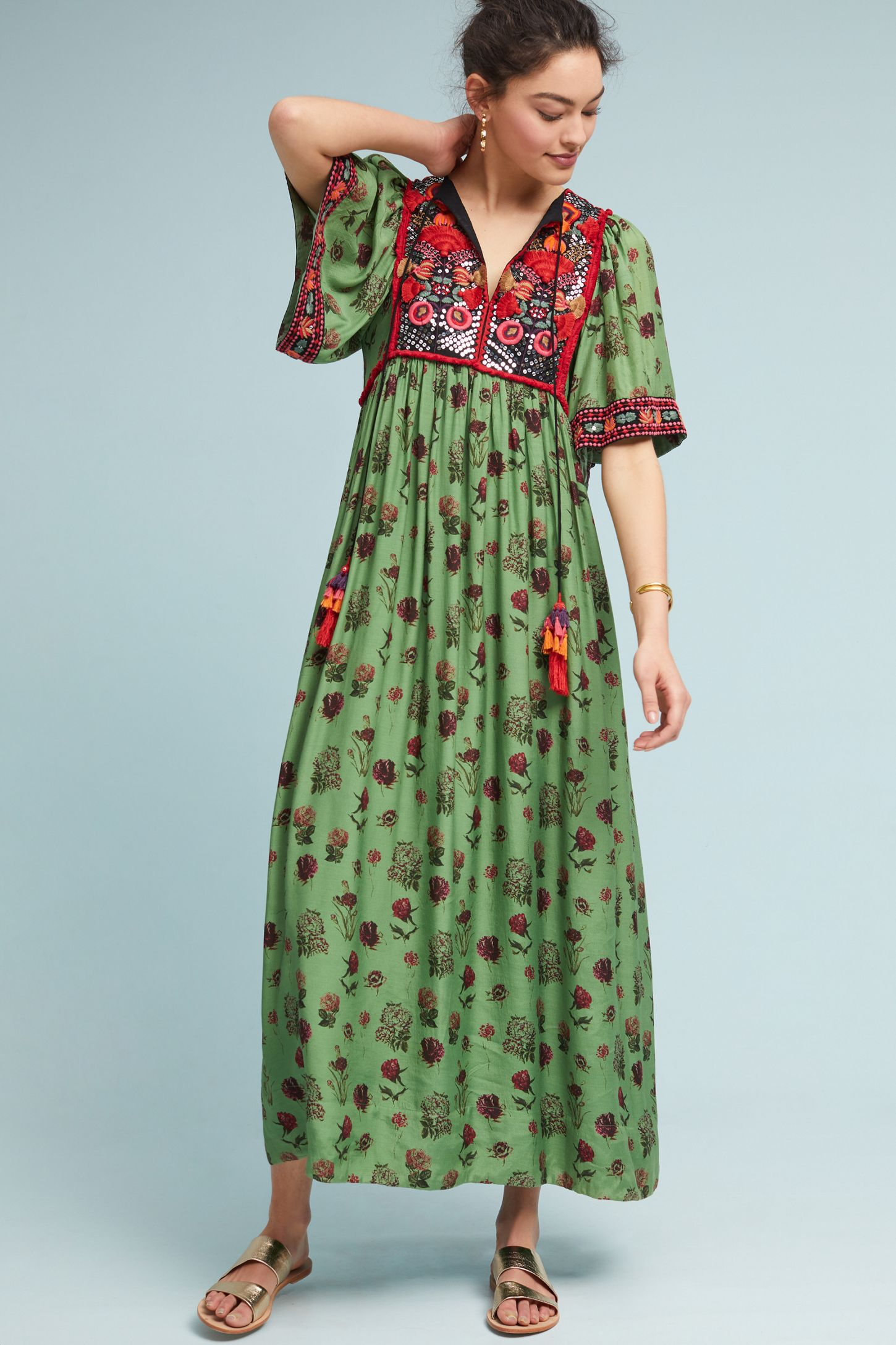 a49128f7ce1 Basil Embroidered Dress