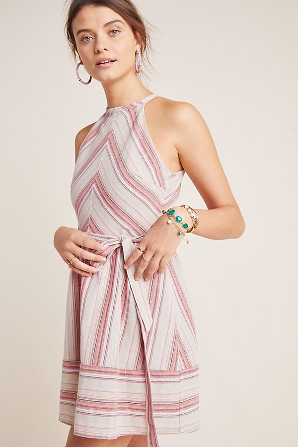 Slide View: 1: Striped Halter Dress
