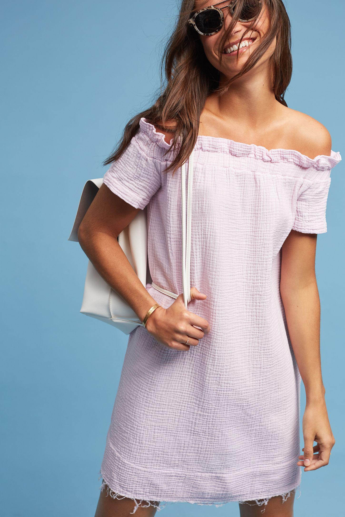 e71b5aff09 Maella Off-The-Shoulder Tunic Dress
