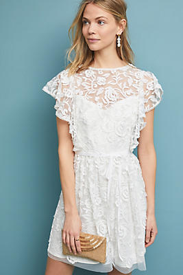 Slide View: 1: ML Monique Lhuillier Porcia Lace Dress