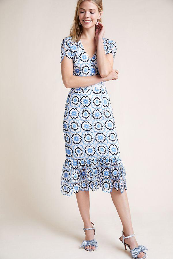 Ml Monique Lhuillier Beall Lace Dress