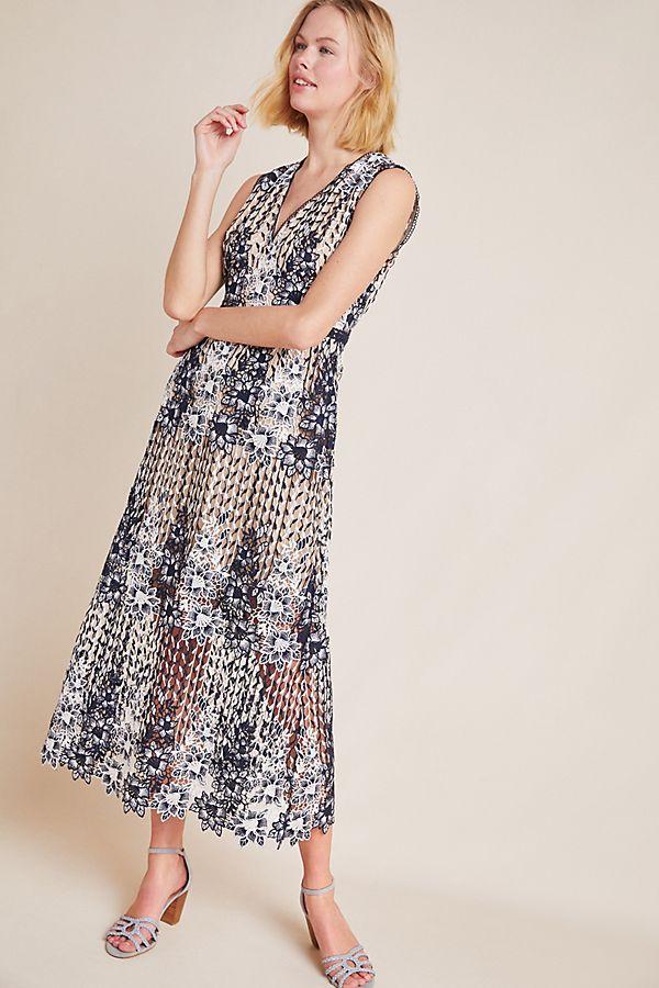 Slide View: 1: ML Monique Lhuillier Pigalle Lace Dress
