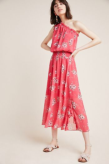 6bc389d9c6f ML Monique Lhuillier Chiffon Midi Dress