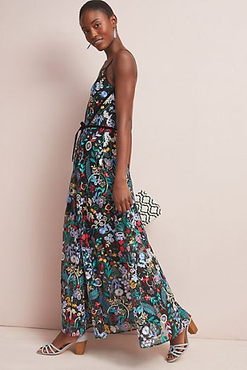 50d12ab48851 ML Monique Lhuillier Poetess Maxi Dress